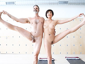 You must see a naked couple doing nude yoga at least once in your life