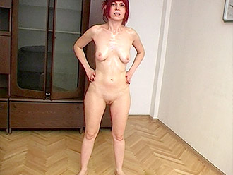 Skinny naked MILF vs nude yoga