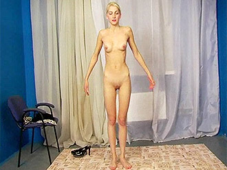 Naked yoga with skinny and very flexible naked teen (movie from teen porn rare DVD)