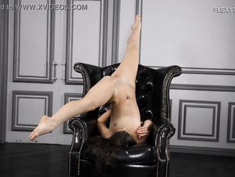 Nude yoga with beautiful porn star